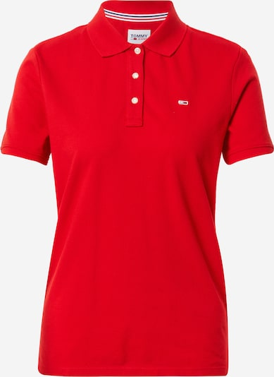 Tricou Tommy Jeans pe roșu, Vizualizare produs