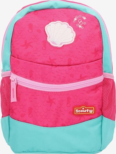 Scouty Rugzak 'Rocky' in de kleur Aqua / Pink / Rosa, Productweergave