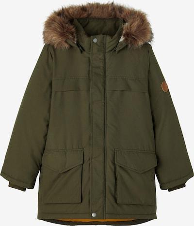 NAME IT Prijelazna jakna 'MABE' u smeđa / kraljevski zelena, Pregled proizvoda