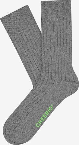CHEERIO* Socks 'TOUGH GUY' in Grey