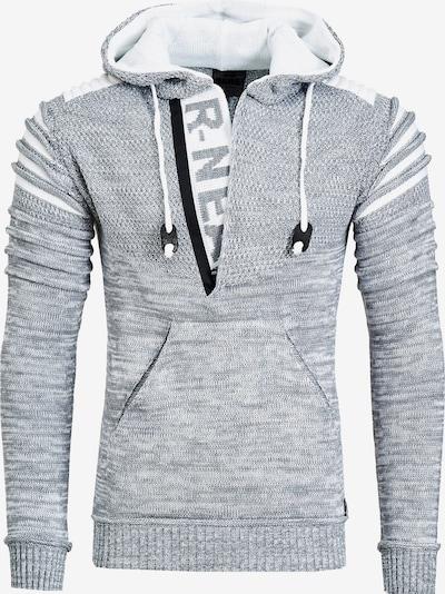 Rusty Neal Kapuzenpullover in grau, Produktansicht