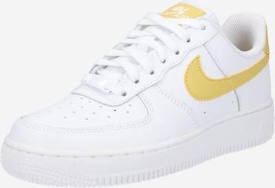 Nike Sportswear Sneaker low 'Air Force 1' i gylden gul / hvid, Produktvisning