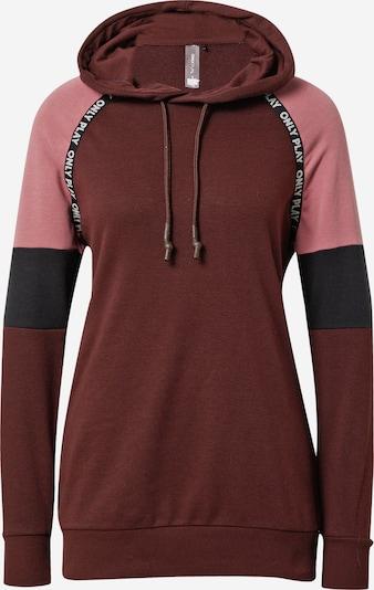 ONLY PLAY Sportief sweatshirt 'NIA' in de kleur Chocoladebruin / Rosa / Zwart, Productweergave