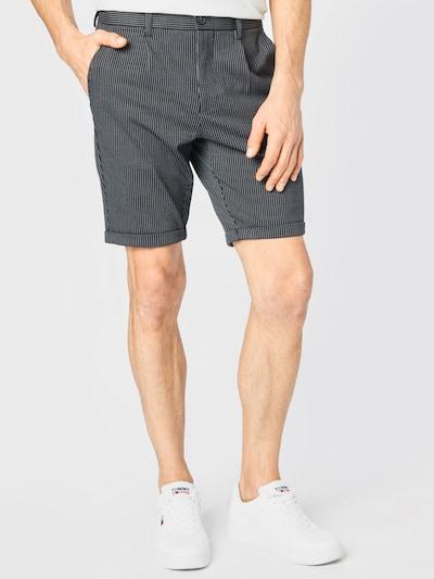 fekete / fehér Lindbergh Élére vasalt nadrágok 'Superflex', Modell nézet