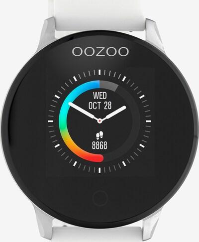 OOZOO Smartwatch in schwarz / silber / weiß, Produktansicht