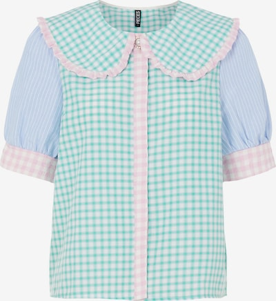 PIECES Blouse 'Bessie' in Light blue / Jade / Light pink / White, Item view
