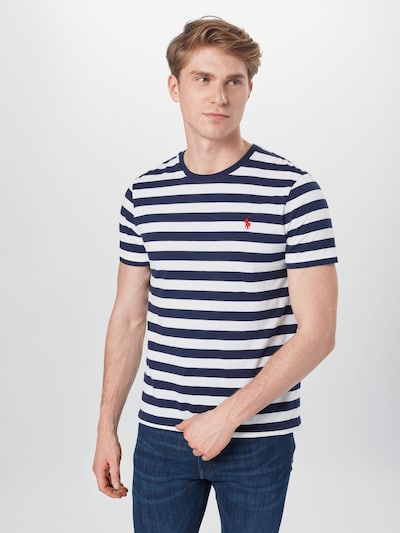 POLO RALPH LAUREN Shirt in Marine / White: Frontal view