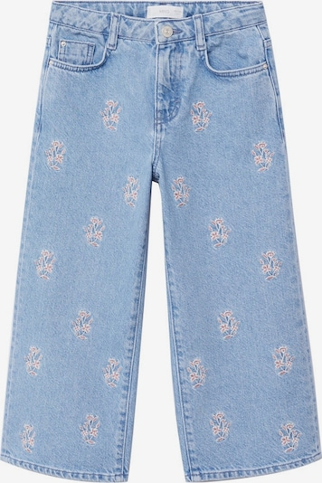 MANGO KIDS Jeans 'Bordado-I' in blue denim / altrosa, Produktansicht