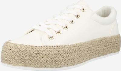 fehér GLAMOROUS Rövid szárú edzőcipők, Termék nézet