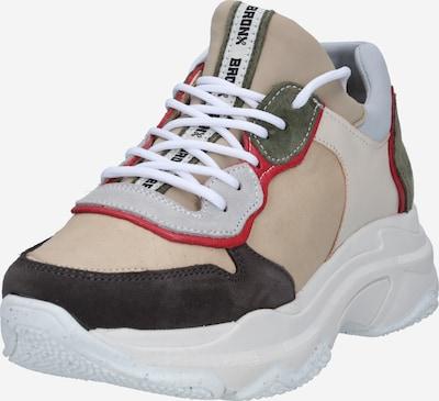 BRONX Sneaker 'BAISLEY' in camel / grau / oliv / rostrot, Produktansicht