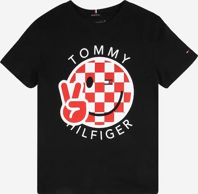 TOMMY HILFIGER T-Shirt 'SMILE' en rouge / noir / blanc, Vue avec produit