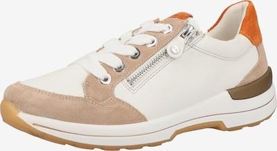 ARA Sneaker in beige / orange / weiß, Produktansicht