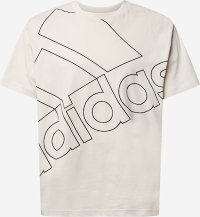 ADIDAS PERFORMANCE Functional shirt in Beige / Black: Frontal view