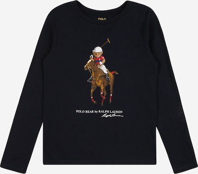 Polo Ralph Lauren T-shirt i marinblå / brun / röd / vit, Produktvy