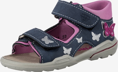 Pepino Sandals 'Franky' in Navy / Light grey / Orchid, Item view