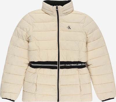 Calvin Klein Jeans Преходно яке в черно / бял памук, Преглед на продукта