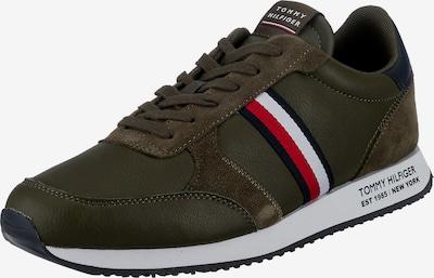 TOMMY HILFIGER Sneaker in navy / oliv / rot / weiß, Produktansicht