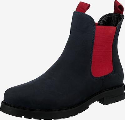 Paul Vesterbro Chelsea Boots in dunkelblau / rot, Produktansicht