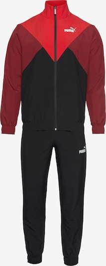 PUMA Trainingsanzug in rot / schwarz, Produktansicht