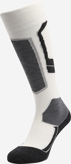 FALKE Chaussettes de sport en gris chiné / noir / blanc cassé, Vue avec produit