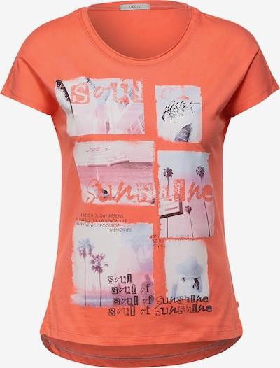 CECIL Shirts i orange / pink / sort, Produktvisning