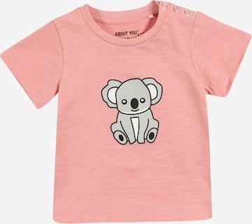 T-Shirt 'Emilia' ABOUT YOU en rose