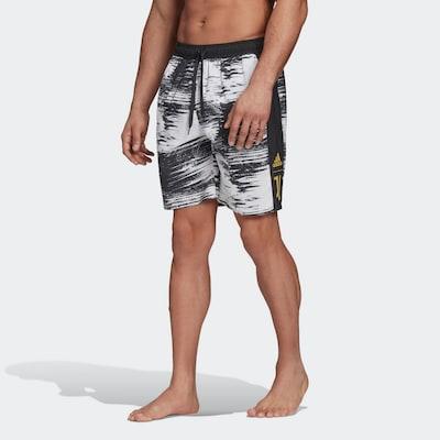 ADIDAS PERFORMANCE Sportzwembroek in de kleur Goud / Zwart / Wit: Vooraanzicht