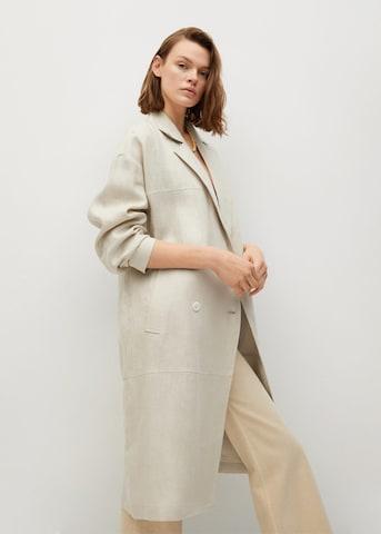 Palton de primăvară-toamnă 'Camil-I' de la MANGO pe bej