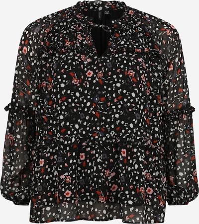 Vero Moda Curve Bluse 'MILLE' in rosa / rot / schwarz / weiß, Produktansicht