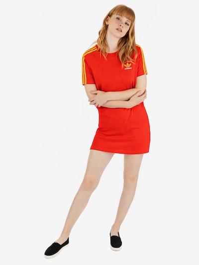 ADIDAS ORIGINALS Kleid ' 3 Stripes ' in orangerot, Modelansicht