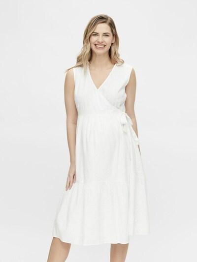 Pieces Maternity Kleid 'Tereta' in weiß, Modelansicht