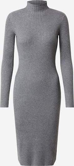 EDITED Gebreide jurk 'Hada' in de kleur Grijs gemêleerd, Productweergave