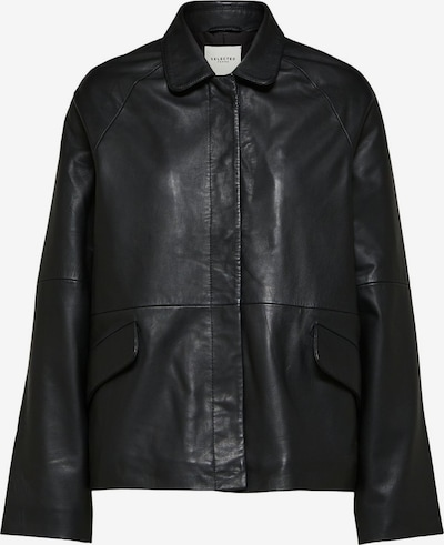 SELECTED FEMME Lederjacke in schwarz, Produktansicht