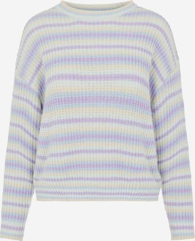PIECES Pullover in blau / lila / orange / weiß, Produktansicht