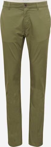 Pantaloni eleganți 'Travis' de la TOM TAILOR pe verde