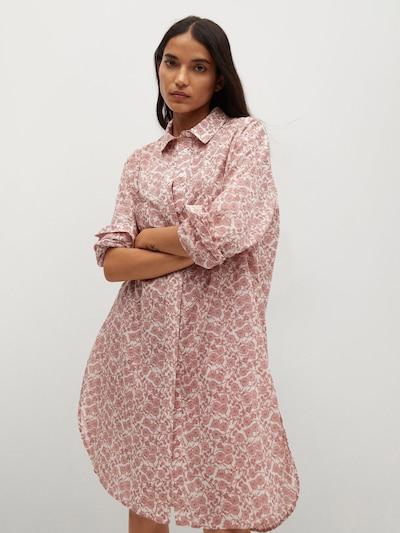 MANGO Bluza 'Korfu' | rosé / bela barva, Prikaz modela