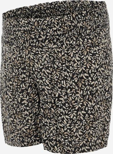 MAMALICIOUS Shorts 'Kena' in beige / schwarz / weiß, Produktansicht