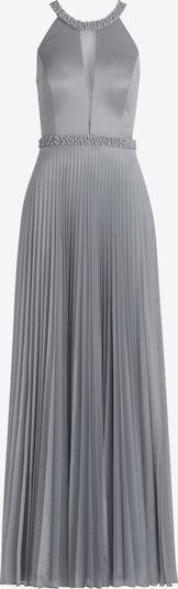 Vera Mont Abendkleid mit Plissee in basaltgrau: Frontalansicht