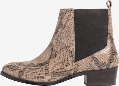 Ulla Popken Chelsea boots in de kleur Lichtbeige / Basaltgrijs, Productweergave