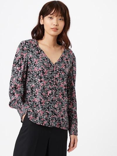 PIECES Bluse 'PAOLA' in beige / pastellgrün / altrosa / schwarz, Modelansicht
