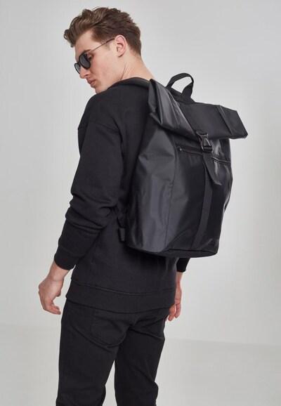 Urban Classics Rugzak ' Folded Messenger Backpack ' in de kleur Zwart: Vooraanzicht