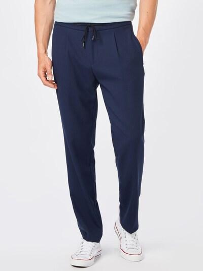 sötétkék HUGO Élére vasalt nadrágok 'Helios212', Modell nézet