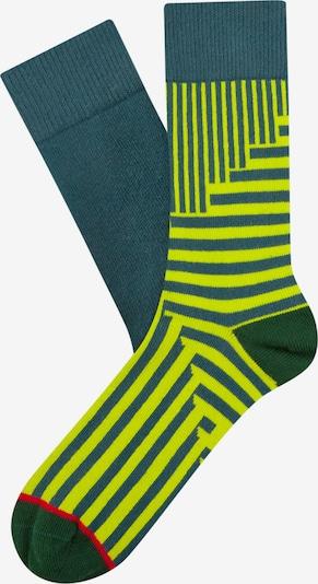 Cheerio Socken 'Jolly' in ultramarinblau / neongelb / grasgrün / neonrot, Produktansicht