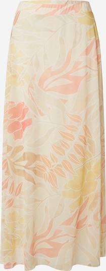COMMA Rok in de kleur Lichtbeige / Geel / Zalm roze / Wit, Productweergave