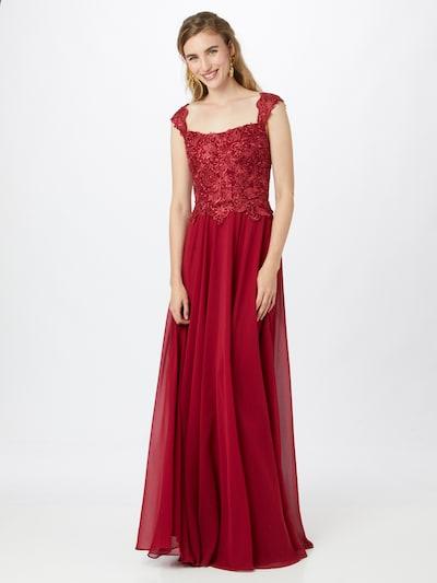 LUXUAR Abendkleid in weinrot, Modelansicht