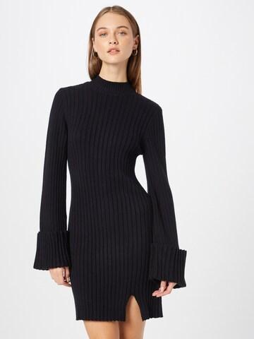 NA-KD Gebreide jurk in Zwart