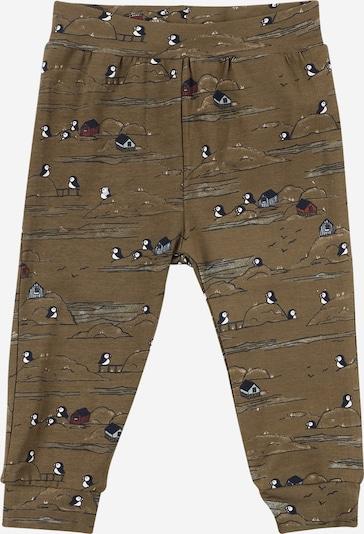 NAME IT Pantalon 'OLIVER' en gris fumé / kaki / noir / blanc, Vue avec produit