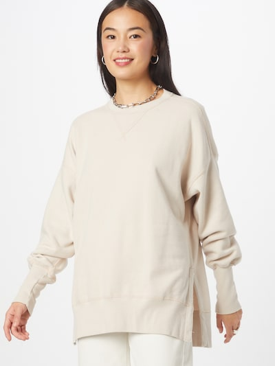 Abercrombie & Fitch Sweatshirt i ljusgrå: Sedd framifrån