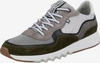Floris van Bommel Sneaker 'Nineti' in greige / oliv / schwarz / weiß, Produktansicht