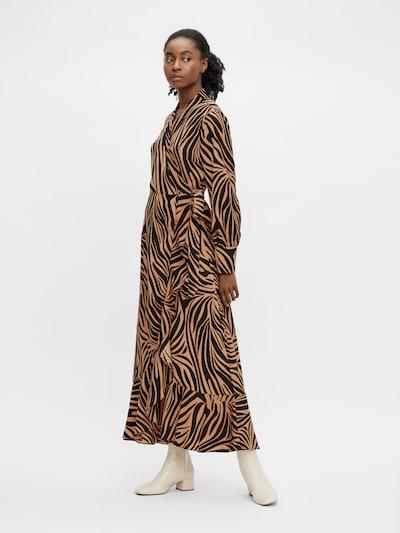 OBJECT Jurk 'New Papaya' in de kleur Bruin / Zwart, Modelweergave